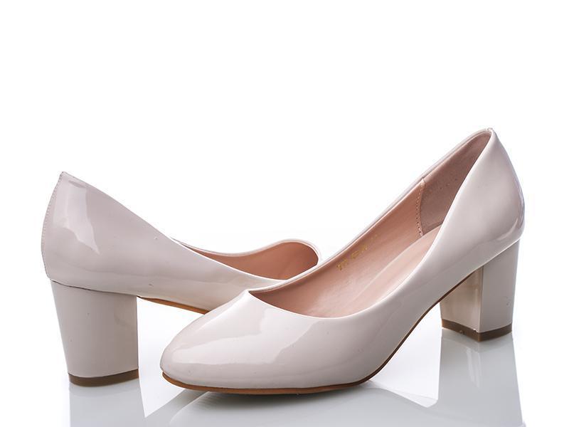 белые толстый каблук