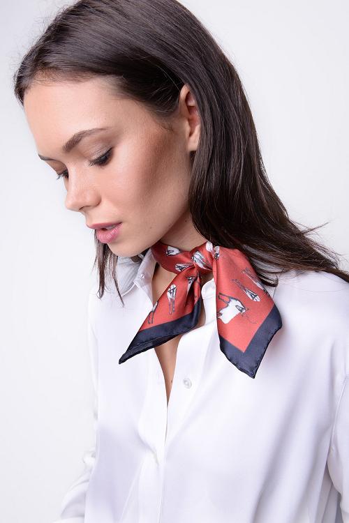 способы завязывания платка на шее для женщин