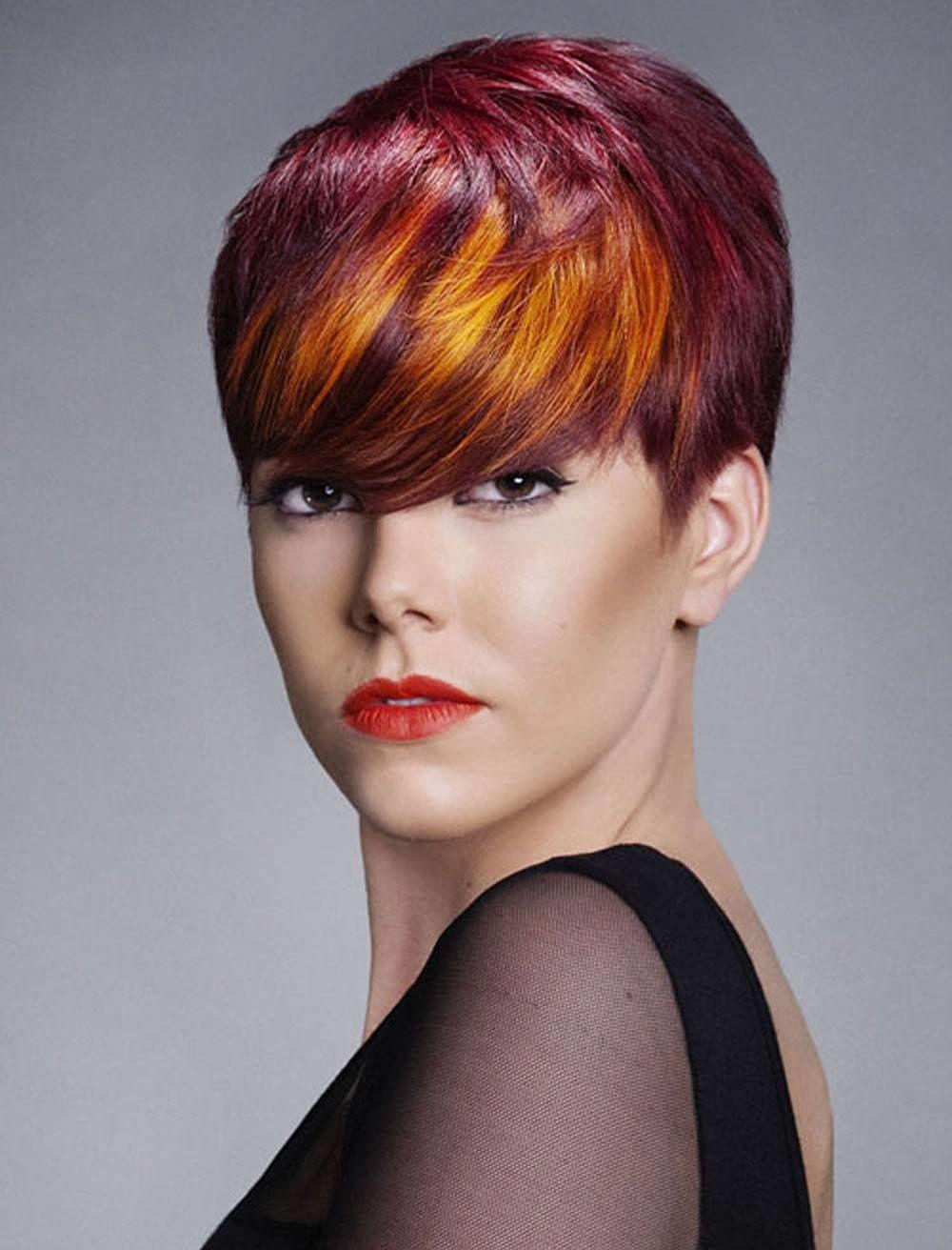 Картинки модного окрашивания коротких волос