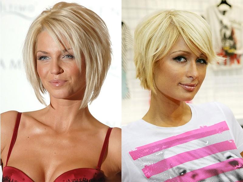 каре у блондинки